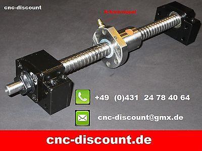 Kugelumlaufspindel  1605 x 1200mm komplett  CNC Fräse Spindel Festlager Loslager