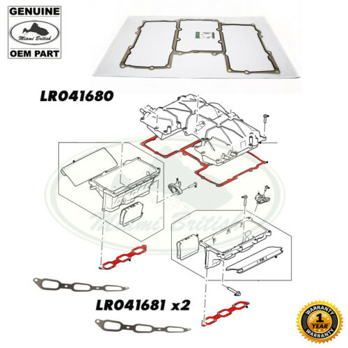 Land Rover Range Sport LR4 /& Discovery 3.0L Intake Manifold Gasket Set LR041681