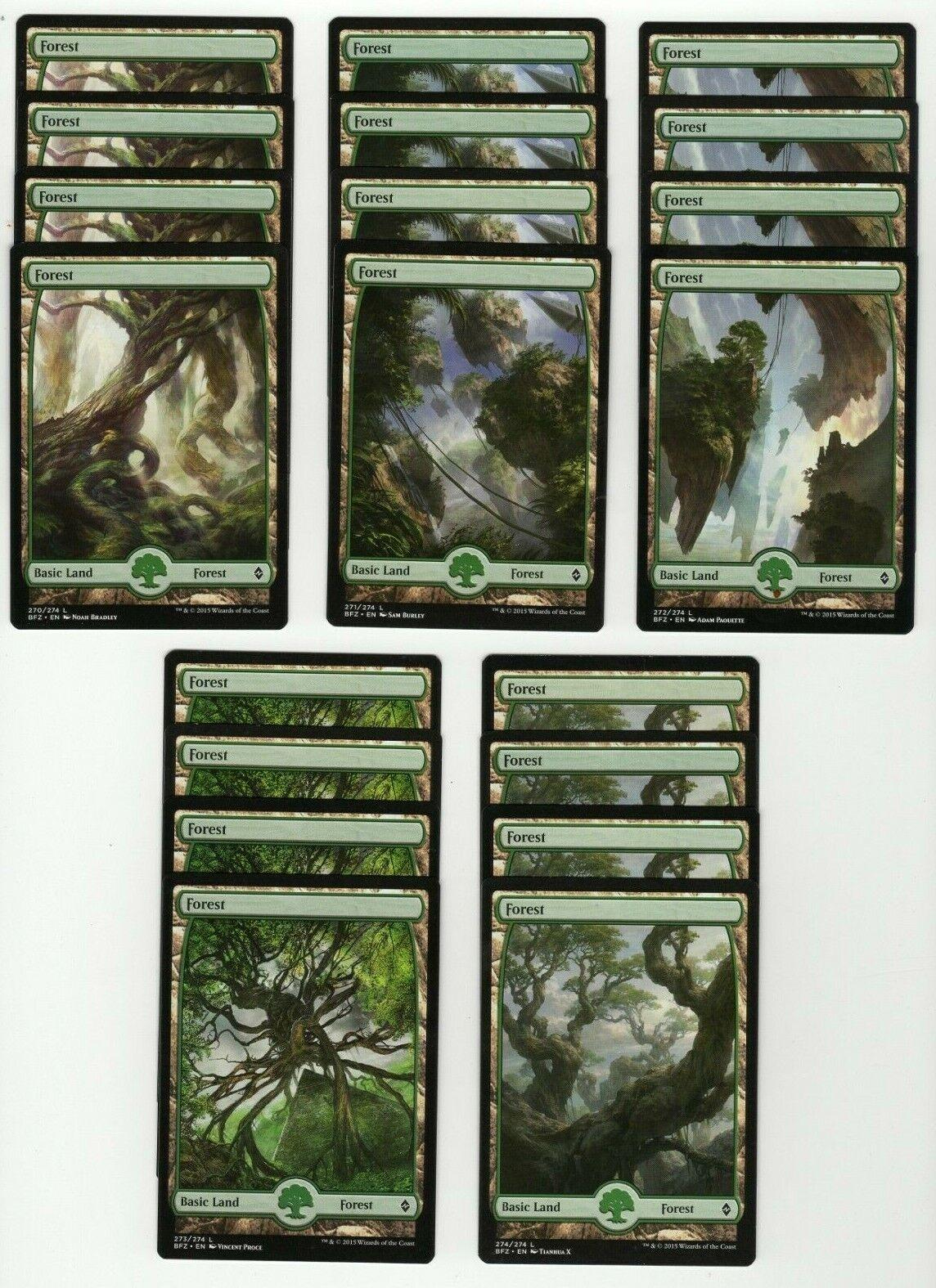 Plains #251 x4 Full Art Basic Land Battle for Zendikar 4x cards Magic MTG