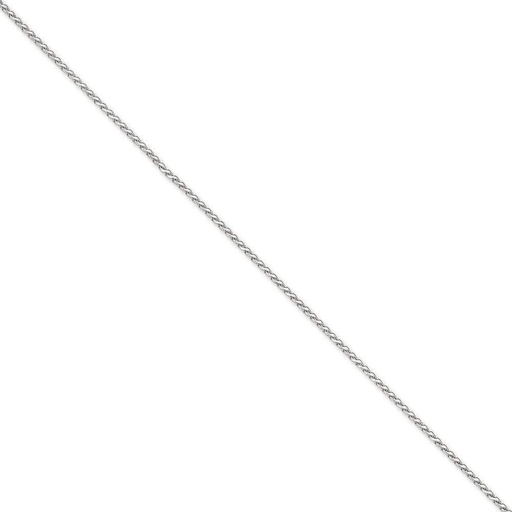 14K White gold 1.90MM Diamond-Cut Spiga (Wheat) Link Bracelet