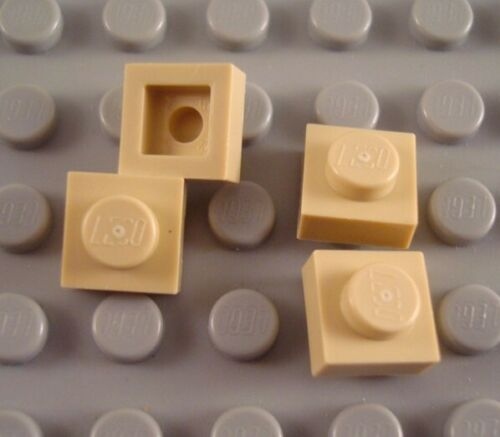 New LEGO Lot of 4 Tan 1x1 Flat Plate Pieces from 79109 10217 6864 5766