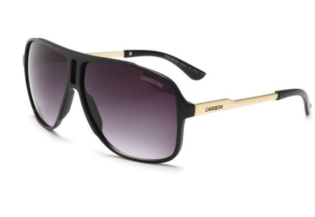 Fashion Men & Women's Retro Sunglasses Unisex Matte Frame Carrera Glasses Box #5