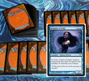 mtg-BLUE-GAIN-CONTROL-DECK-Magic-the-Gathering-rares-60-cards-beguiler-of-wills