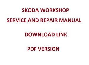 Skoda Fabia Repair Manual Pdf