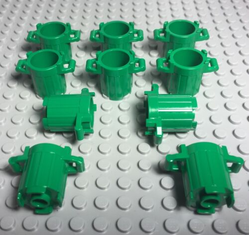 Dustbin New Green Trash Can Container City Street Parts Lot Lego X10 Pc