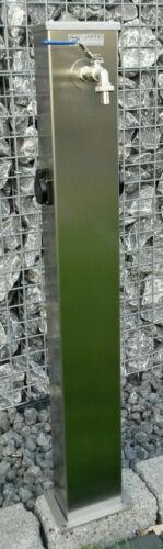 Energie- und Wassersäule mit 2 Steckdosen 99 cm ges Höhe Edelstahl geschl