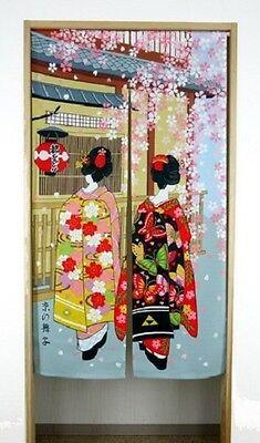 JAPANESE Noren Curtain KYOTO MIYAKO ODORI MAIKO KIMONO  NEW MADE IN JAPAN