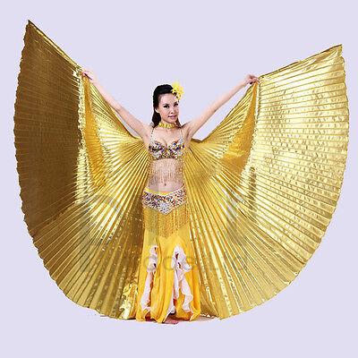 Egyptian Egypt fancy dress Belly Dance Costume Shining ISIS WINGS Dance Wear UK