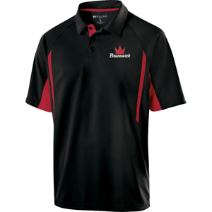 Brunswick-Mens-Inferno-Performance-Polo-Bowling-Shirt-Black-Red-Dri-Fit