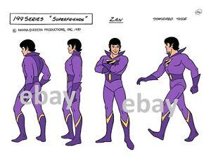 Super Friends WONDER TWINS - ZAN MODEL SHEET PRINT A Hanna Barbera Cartoon