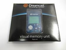 SEGA Dreamcast Official Visual Memory Unit VMU Card Black Batteries