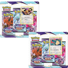 2x Chilling Reign 3 Booster Pack Blister Eevee Snorlax SWSH118 119 PRESALE 6/18