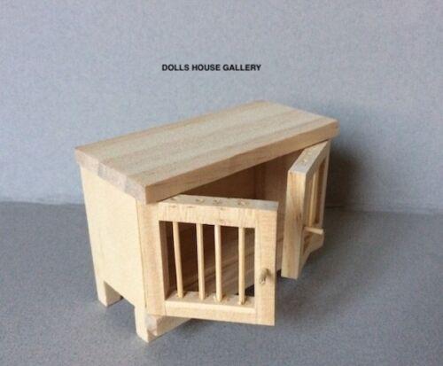 Bare in legno Conigliera Miniatura Animale Domestico Accessorio Hut Casa delle Bambole Miniature