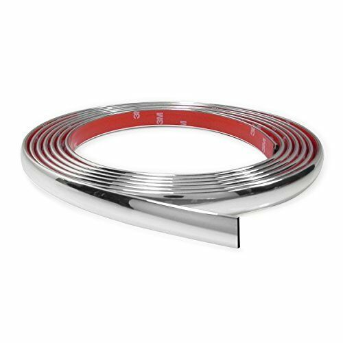 18 Feet Chrome Finish 5//8 Inches Auto Body Molding Trim and Wheel Well Trim