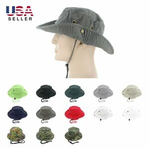 dad665dafc Boonie Bucket Hat Cap 100% Cotton Fishing Military Hunting Safari ...