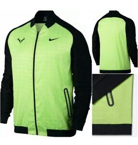 Détails sur Nikecourt Rafa Nadal Taureau Premier Homme Tennis Veste Ghost VertNoir L