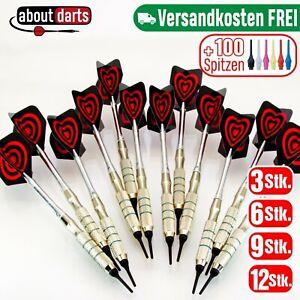 Dartpfeile | 16g Softdart | Darts | 3-6-9-12 + 100 Spitzen | Einsteiger Set Dart