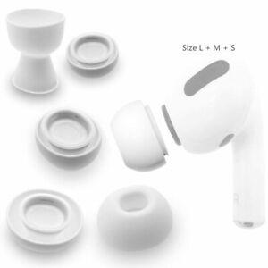 Kit 3x coppie gommini ricambio tappini auricolari cuffie per Apple Airpods Pro