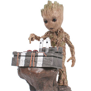 Popular Guardians of the Galaxy Vol.2 Push Bomb Baby Groot Figure Statue Toy