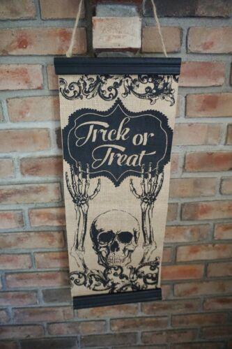 Lock Your Doors Primitive Halloween Wood Sign 12 x 24