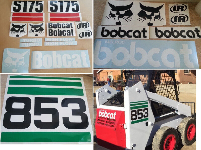 Bobcat skid steer decals stickers kits