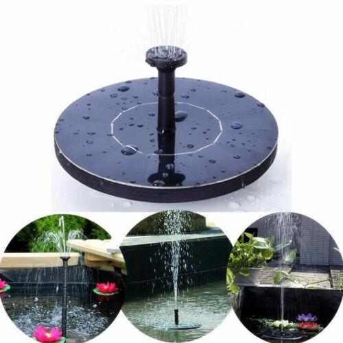 Solar Powered Floating Bird Bath Water Fountain Pump Garden Pond Pool Outdoor