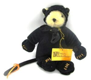 Muffy-VanderBear-in-Removable-Halloween-BLACK-CAT-Costume-Fully-Jointed