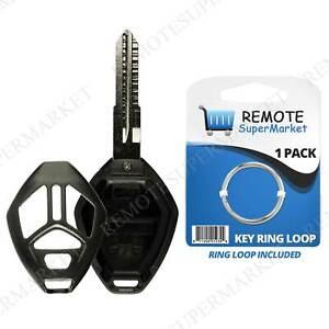 Key Fob Keyless Entry Uncut Remote Shell Case /& Pad fits Mitsubishi 2006-2007 Eclipse 2006-2007 Galant