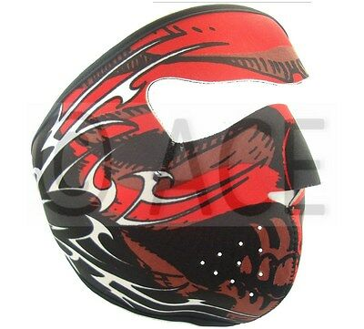 Neoprene FULL  Reversible Biker Skateboard Motor Bike Scary Sports Face Mask