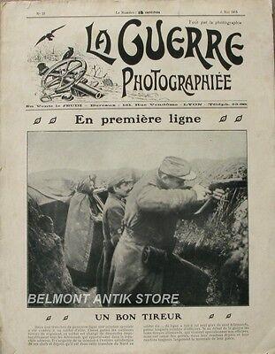 Betrouwbare La Guerre Photographiée N°28-1915- Aviateur Garros-batterie De 75-niox-wille