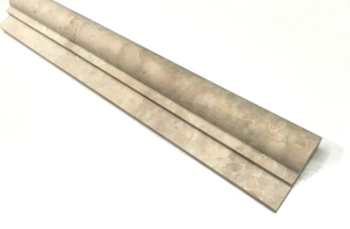 2X12 Cappucino Beige Marble Chair Rail Profile Molding Wall Trim Piece