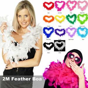 2M Feather Boa Strip Fluffy Craft Costume Fancy Dress Wedding Hen Party Decor UK