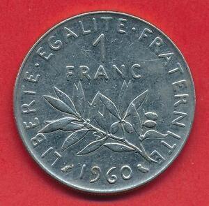 Französische Münze Vth Republic 1 Franc Semeuse 1960 Ebay