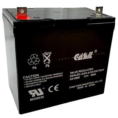 614HD Battery 12V 55AH Pride Mobility Jazzy 600 600 XL 614 2 Pack