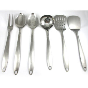 6 stainless steel kitchen tools cooking utensil serving set server spatula spoon - Best Kitchen Utensils