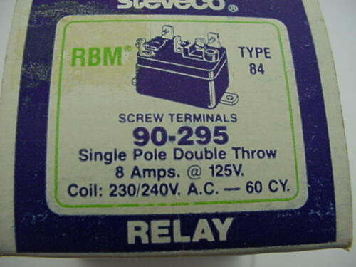 Steveco 90-295 Relay  RBM 84  White Rodgers 84-20306-301 Ships on the Same Day