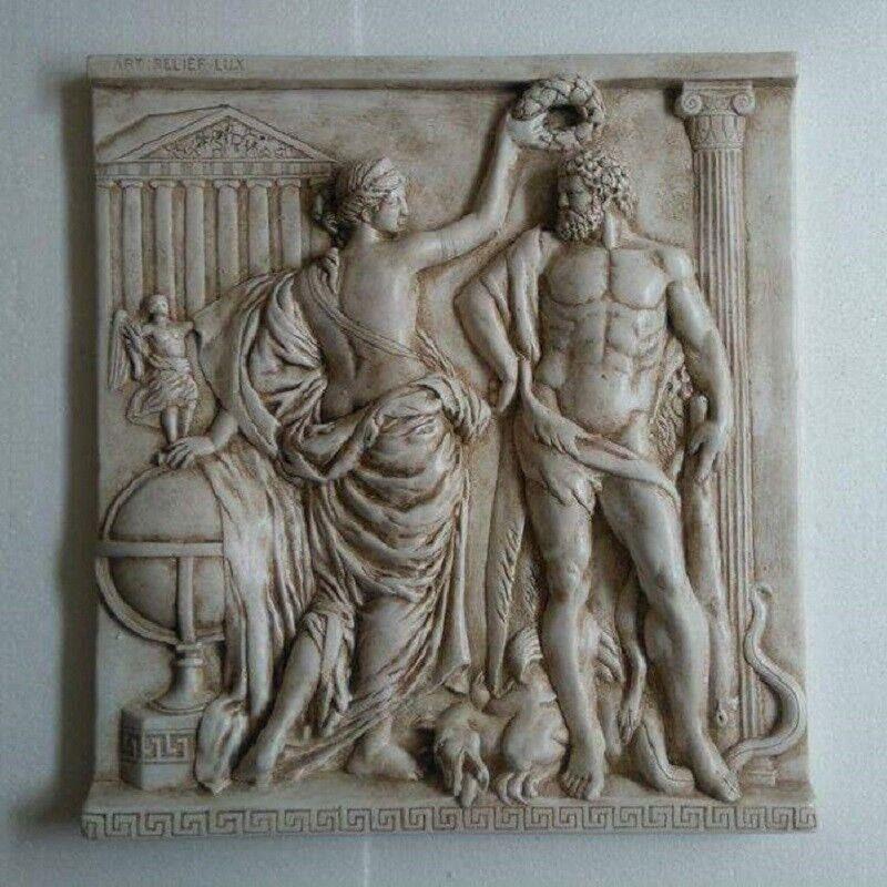 Relief grande escultura griega parojo relief imagen Greek bajorrelieve Teatro Escayola