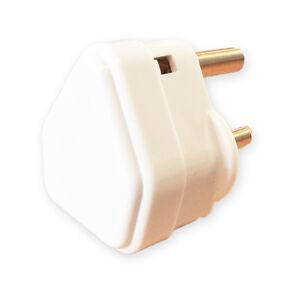 2-AMP-WHITE-PLASTIC-ROUND-PIN-PLUG