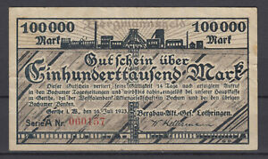 Gerthe-Bergbau-Akt-Set-Lothringen-100-Tausend-Mark