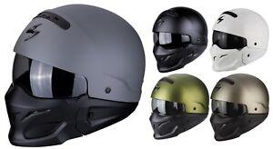 Scorpion-Exo-Combat-Casco-para-Motocicleta-Sistema-Jet-con-Desmontable-Kinnteil