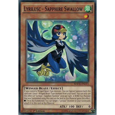 X3 YUGIOH LYRILUSC SAPPHIRE SWALLOW  MACR-EN013 COMMON 1ST IN HAND