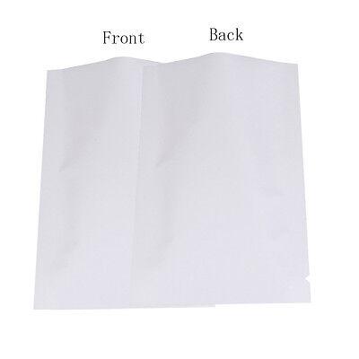 12CMx18CM Bags Flat Pouch Silver//Silver Foil Matte Mylar Type Heat Sealant
