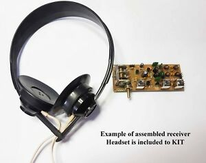 Details about Simple 3-band Ham radio receiver direct conversion 7,14,21MHZ  + Headset KIT DiY