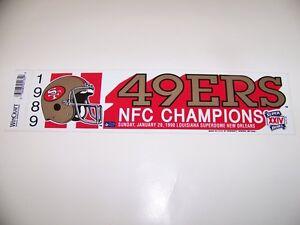 SAN-FRANCISCO-49ERS-1989-NFC-CHAMPIONS-BUMPER-STICKER