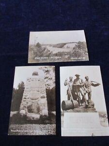 Vtg-Kiwanis-Memorial-Lumbermans-Monument-AuSable-Michigan-Postcard-Lot-of-3-Q813