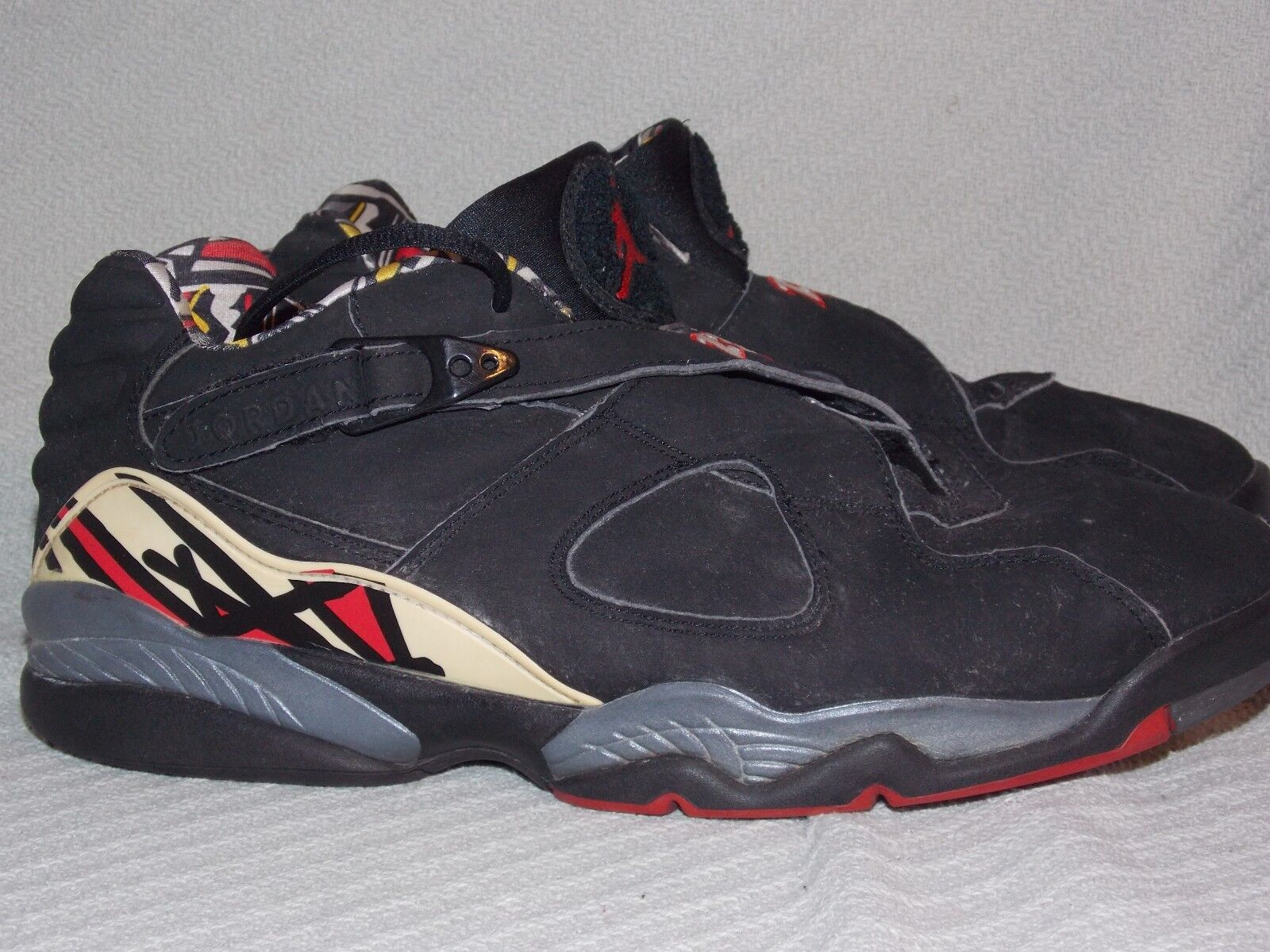 Nike Air Jordan VIII Retro Low sz 11.5 M Playoff Black Multi-color 306157-061