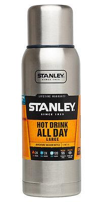 Diligente Qualità Superiore Pallone-stanley Avventura 1 Litro Bottiglia Di Vuoto-acciaio Inox- Non-Stireria