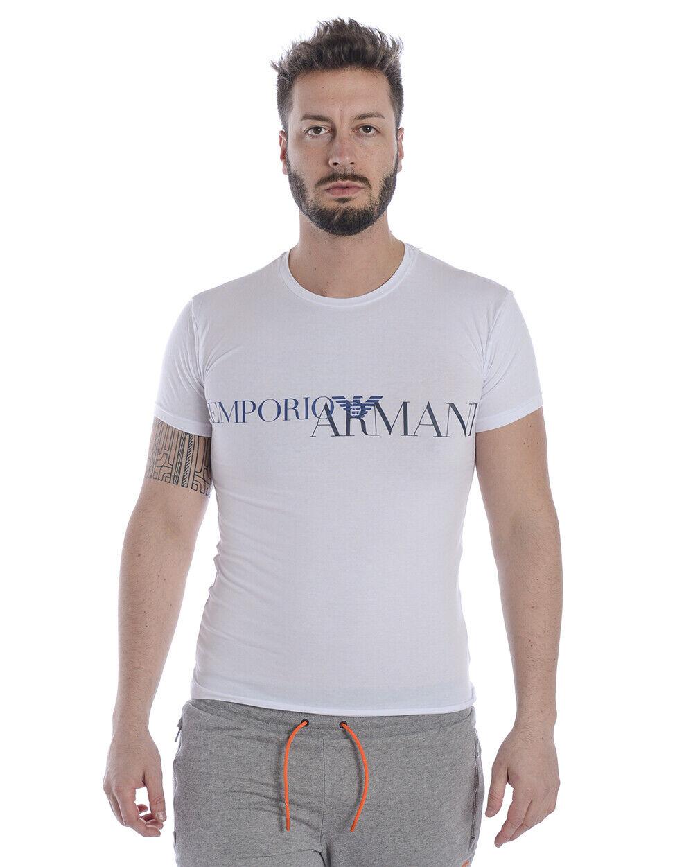 Emporio Armani T Shirt Sweatshirt Man Weiß 111035 9P516 10 Sz L MAKE OFFER