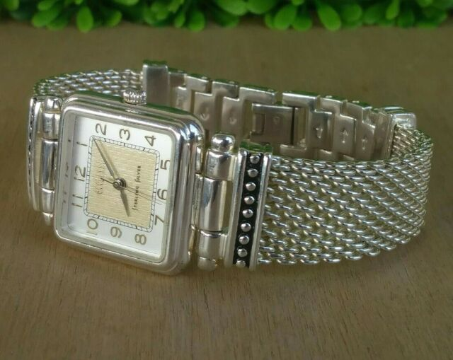 Ecclissi Sterling Square Watch With Mesh Bracelet 7