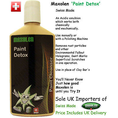 Maxolen Paint Detox 250ml, Rejuvenator, Iron Decontamination Fallout Remover